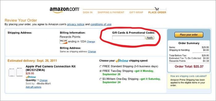 How to use Amazon promo codes