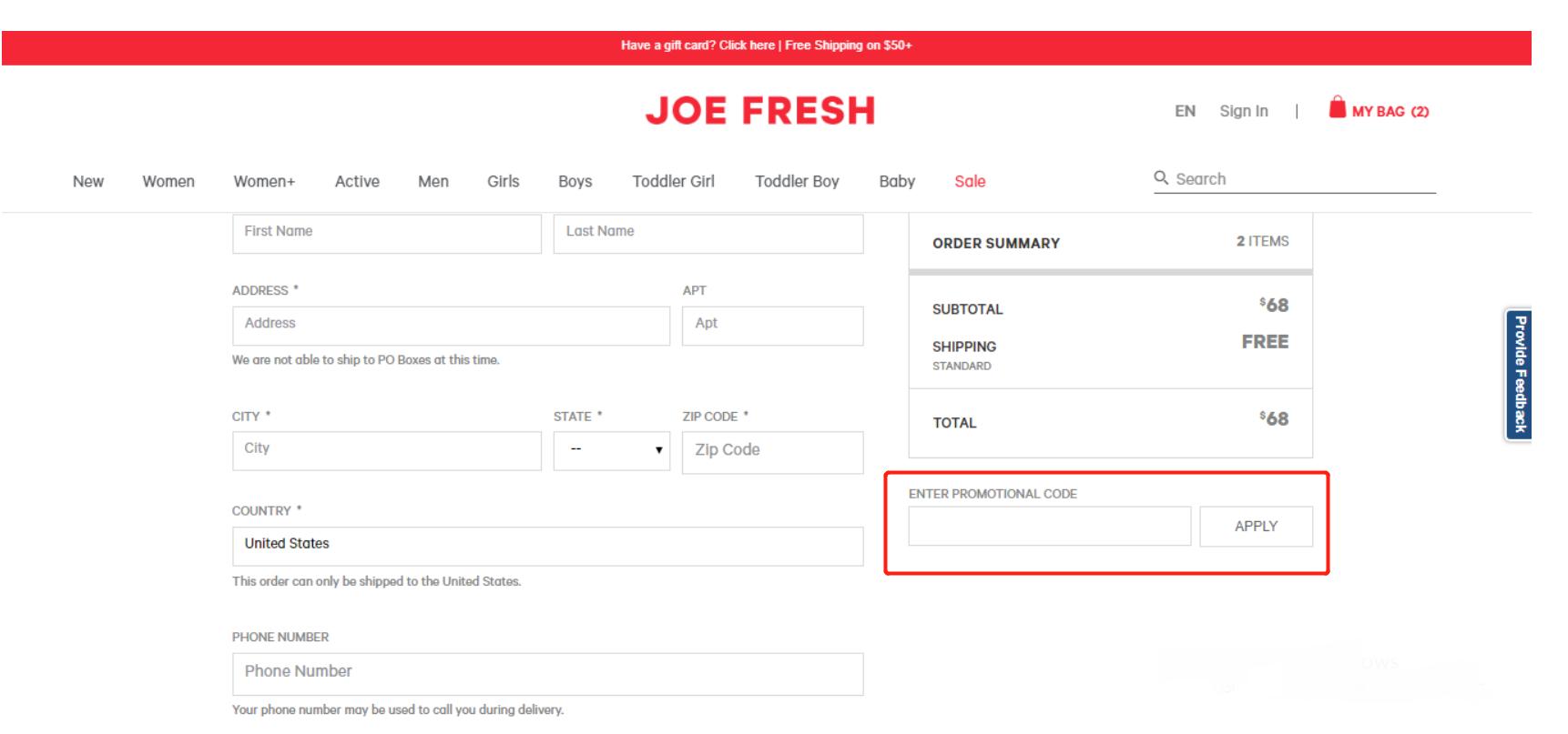 Joe Fresh Coupon Codes Coupons